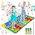 joylink Tapis de Piano Musical, Tapis Musical Enfant Piano Tapis Tapis de Jeu pour Piano Tapis de Musique avec 10 Touches et