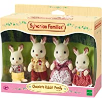 Sylvanian Families - Le Village - La Famille Lapin Chocolat - 4150 - Famille 4 Figurines - Mini Poupées