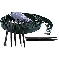 Bordure de Jardin Flexible, Bordure de pelouse Douce, Bordure de Jardin en Plastique - 4cm de Haut - Vert 10 mètres + 30…