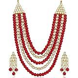 Sukkhi Astonish Gold Plated Wedding Jewellery Kundan Long Haram Necklace Set for Women (N73514_D1)