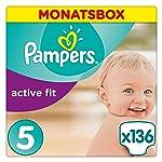 Pampers Active Fit Windeln Monatsbox, Gr??e 5, 11-23kg x136 Windeln