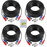 ANNKE 4 Pack 30M/100 Feet BNC Video Power Cable Security Camera Cable for CCTV Surveillance DVR System Installation…