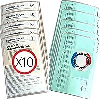 Pochette Carte Grise - Etui en lot 10 Porte cartes grise pour Protéger papier Assurance Auto, Moto, Permis - Pack de…