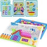 Creative Mosaique Puzzle 296pcs Bloc de Construction Magnétique Jeu de Construction Colorée Jouet Educatif DIY Assortiment de
