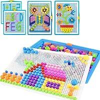 Creative Mosaique Puzzle 296pcs Bloc de Construction Magnétique Jeu de Construction Colorée Jouet Educatif DIY…