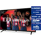 Televisiones 32 Pulgadas HD 3X HDMI, USB, 800 PCI Hz, Grabador Reproductor, DVB-T2/C/S2 Modo Hotel - Televisores TD Systems K