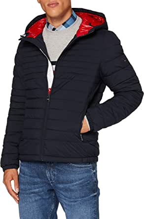 Tommy Hilfiger Quilted Hooded Jacket Bomber Uomo