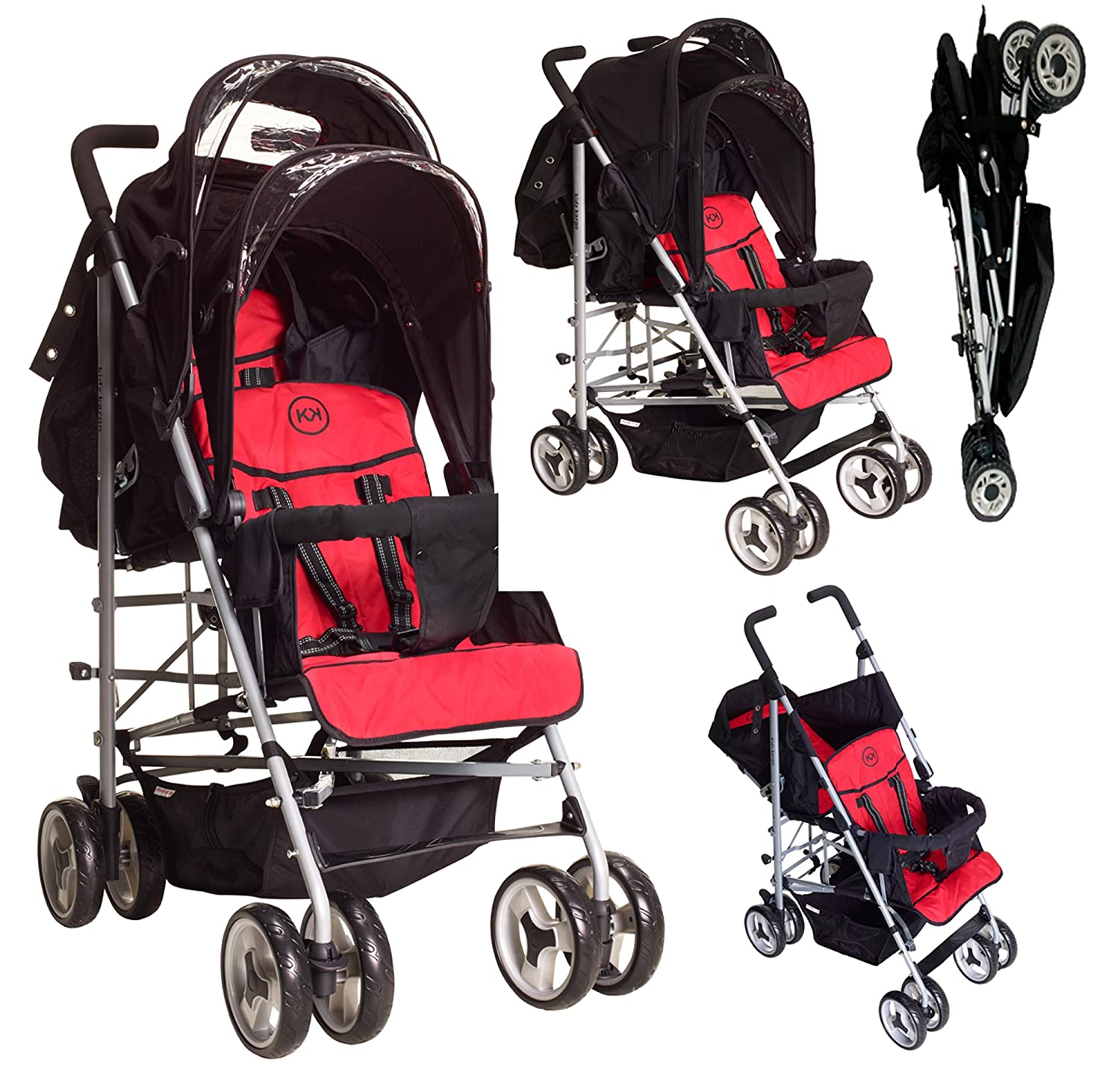 Duo Double Twin Tandem Pushchair by Kids Kargo. 2 seat units fully reclining lie back at the rear. Suitable for newborn or up to 33lb/15kg front seat from ...  sc 1 st  Amazon UK & Duo Double Twin Tandem Pushchair by Kids Kargo. 2 seat units ... islam-shia.org