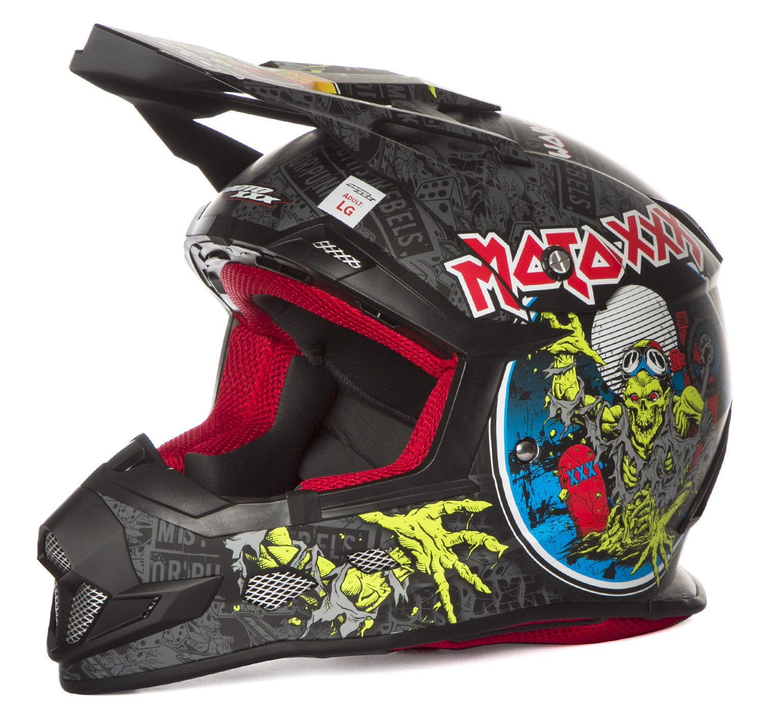 O' Neal Casco Moto XXX World Tour Nero/Multi