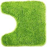 WohnDirect Tapis de Bain Vert • Sets modulables • Antidérapant, Absorbant et Doux• découpe WC, 45x45cm
