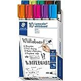 STAEDTLER 351 B10 Lumocolor markery do tablic suchościeralnych, 10 sztuk, różne kolory, końcówka punktowa