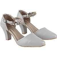 Do Bhai Women Stylish Ankle Strep Stelleto Pump Heel (295)