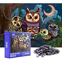 HXMARS Jigsaw Puzzles: 1000-Piece-Puzzles for Adults Kids, Large Puzzle Game for Family-Owl, Illustrated Art with Animal…