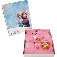Nuovo Accappatoio con Cappuccio Originale Disney Frozen anni 2 3 4 5 6 7 100% Spugna di Puro Cotone Velour Bimba Bambina…