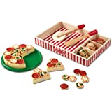 Melissa & Doug Wooden Pizza | Pretend Play | Play Food | 3+ | Gift for Boy or Girl