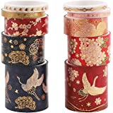 Washi Tape,10 rouleaux Washi Tape Set Ruban de masquage auto-adhésif Style chinois Washi Tape Ruban décoratif Arts Craft Tape
