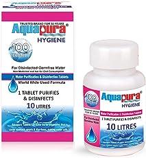 Aquapura Hygiene, Water Purification Tablets, 100 Tablets Pack, Each Tablet for 10 litres Water (Water Purifiers), 3 Years Shelf Life & Warranty