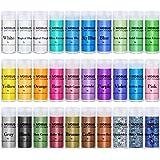 MOSUO Micapoeder Pigmenten, 30 kleuren Zeepverf Glitter Epoxyhars Pigmentpoeder (5 g), Zeep Maken Kleurstof Metallic Glitter