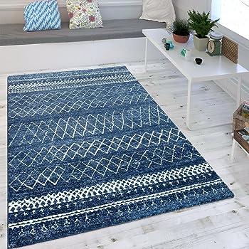 Gut Wohnzimmer Teppich Indigo Blau Trend Modernes Skandinavisches Muster ,  Grösse:120x170 Cm