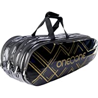 One O One - Mystic Collection Four Compartment Black + Gold Racket KitBag (Badminton/Tennis)