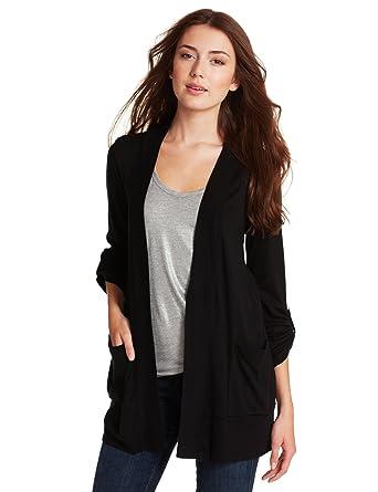 Splendid Women\u0027s Grandpa Cardigan Sweater, Black, X,Small