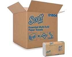 Scott Airflex Multifold Handdoeken 1804 - 250 witte, 1-laags doeken per doos (een omdoos bevat 16 dozen).