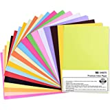 OFIXO Pack of 50 Sheets (10 Color*50 Sheets) A4 Color Paper for Art and Craft/Printing Purpose Multi Color Paper Plain A4 Cra