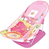 MASTELA Baby Infant Bathing SEAT Traning SEAT Baby Nursing Compact Delux Baby Bather with Removable Head Support Cushion Infant Bath Chair Todler The Bubbly Baby Bath (0 Month+) (Pink)