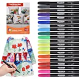 Willingood 20 Pack Fabric pens | Permanent Fabric Marker pens | Fabric pens for t Shirts Bags Cloth Bags and Various Types of