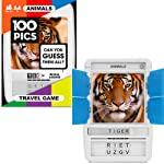 100 PICS Animals Card Game - Educational Toys and Travel Games for Smart Kids
