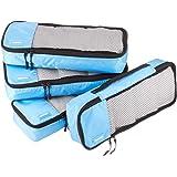 Amazon Basics Inpak kubus, compact (4-delige set), hemelsblauw