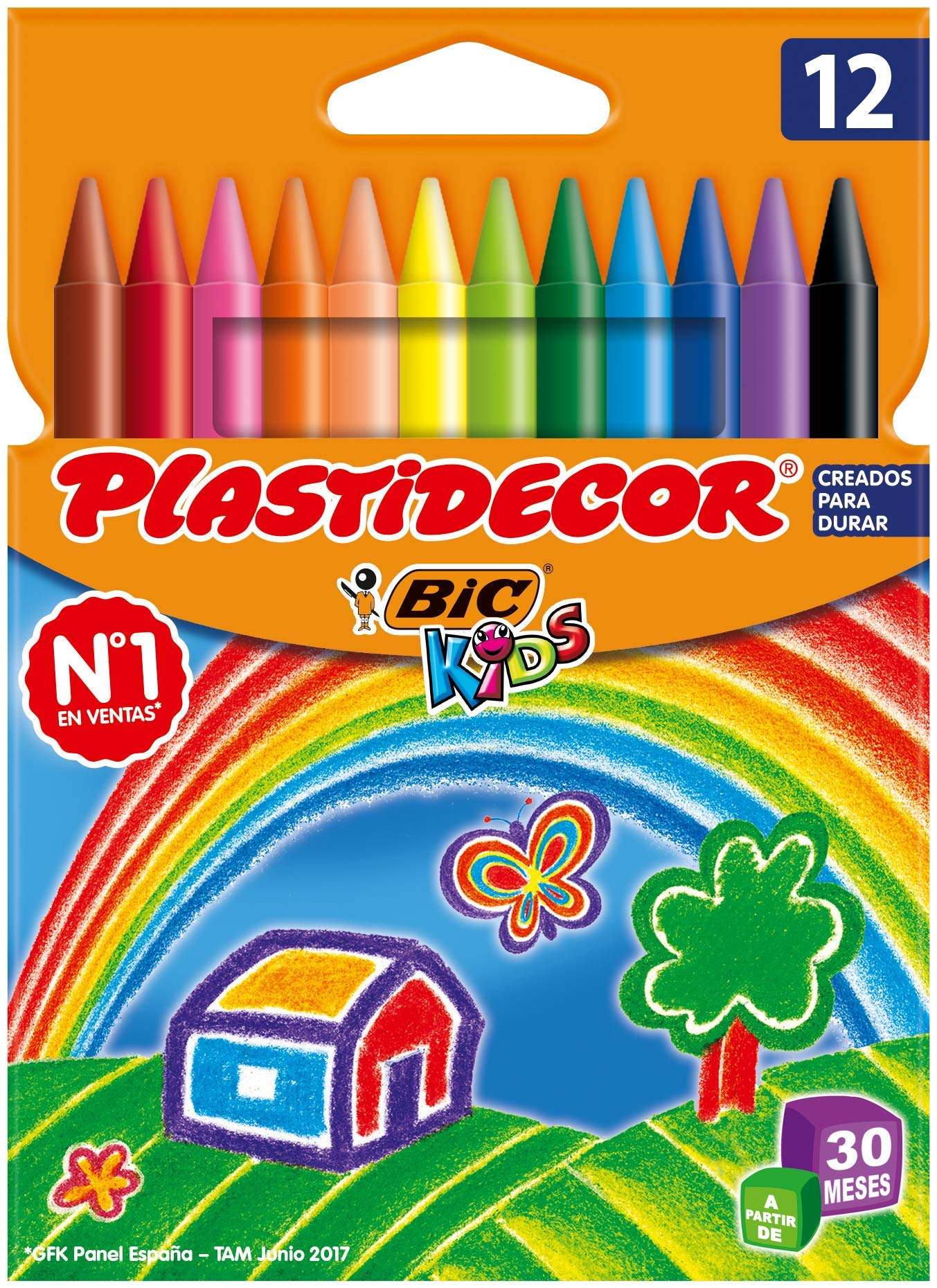 Bic Plastidecor – Ceras de colores, pack de 12