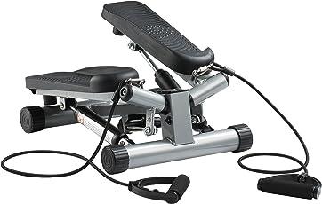 Ultrasport Swing Stepper inklusive Trainingsbändern / Hometrainer Stepper mit verstellbarem Widerstand und kabellosem Trainingscomputer – Up-Down-Stepper für Einsteiger und Trainierte, klein & kompakt