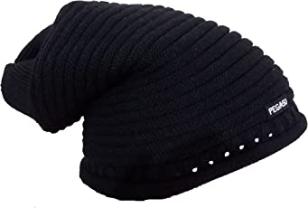 Pegaso Knitted Beanie Woolen Cap Color Black Striped Free size