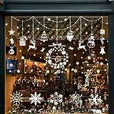 Pegatinas de Navidad, Wokkol Pegatinas de Navidad para Ventanas Pegatinas de Navidad Monigote de Nieve Fiesta extraíbles, Hac