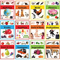 Early Learning Picture Books Boxset: Pack of 12 Picture Books for Kids (Wipe & Clean)- Alphabet, Animals, Numbers…