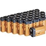 Amazon Basics - Paquete de 24 pilas alcalinas de 9V, gama Everyday