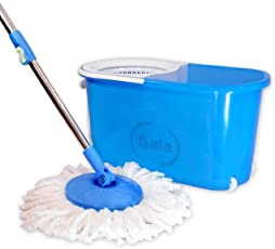 Gala e-Quick Spin Mop with Easy Wheels and Bucket with 2 Refills