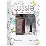 Essie Smalto Essie Base e Manicure, Kit Colore + Gel Fissante, Chinchilly e Good To Go, Confezione da 2