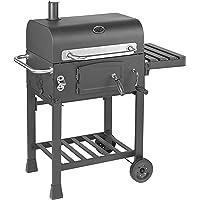 Holzkohle-Grillwagen mit höhenverstellbarer Kohlewanne inkl. Kaminabzug | Hochwertiger Grill für ein gelungenes Barbecue