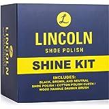 Lincoln Shoe Shine Kit (3 Wax Polishes, 1 Dauber Brush, 1 Shine Cloth)