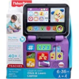 Fisher-Price FXK30 Laugh Click and Learn Laptop, Multi-Colour