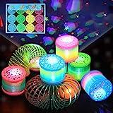 Herefun 12 Rainbow Spiral Juguete por Niños, Juguetes Luminosos, Arco Iris Espiral Primavera, Juguetes de Primavera del Arcoi