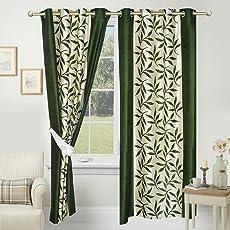 Impeccable Home Kolaveri 2 Piece Eyelet Polyester Curtain Set