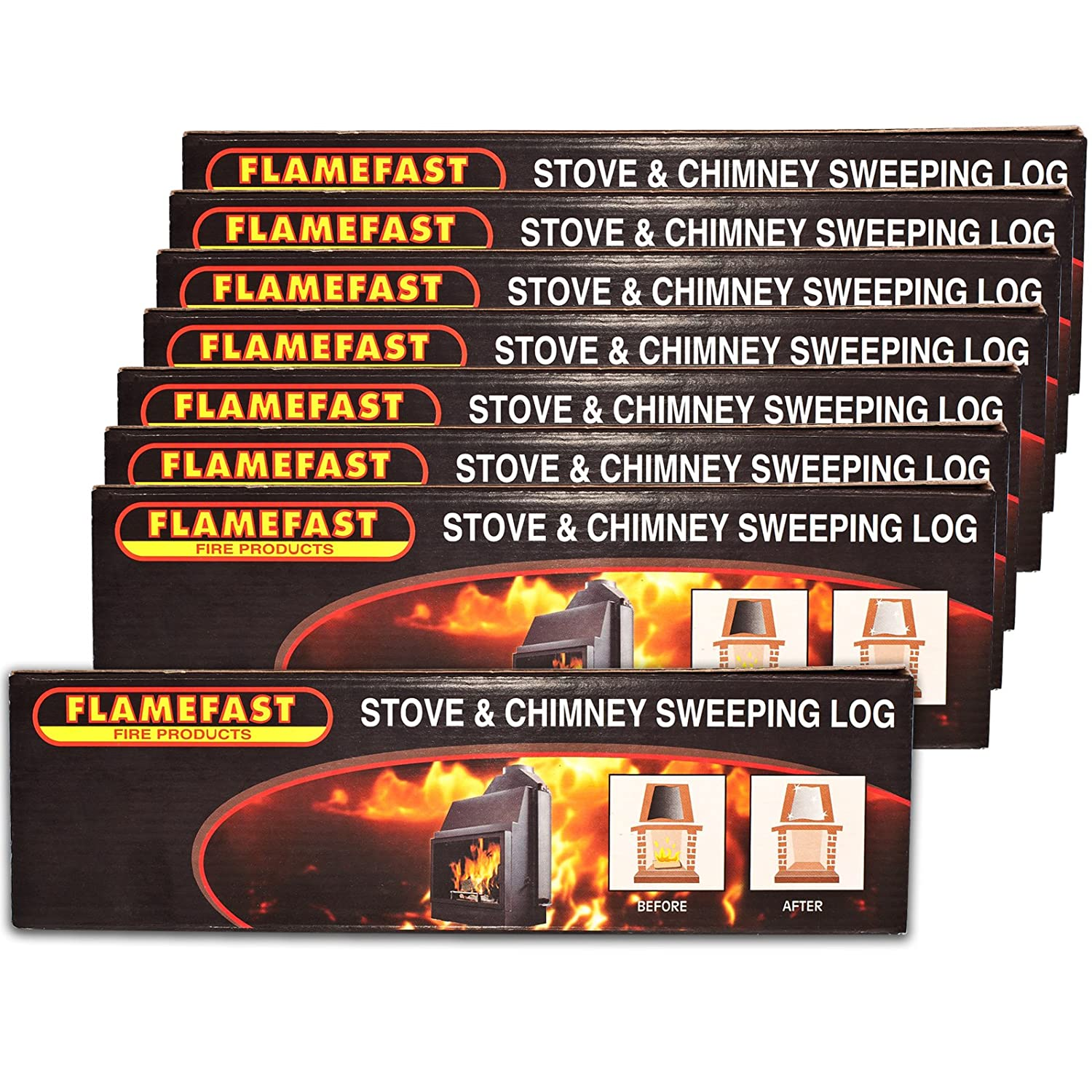 2 x flamefast stove u0026 chimney sweeping logs help to remove