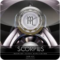 Scorpius Beautiful Clock Widget Zodiac Theme for Android
