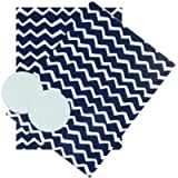 Hallmark Any Occasion Wrapping Paper & Tags Blue and White Zig-Zag Design - 2 Sheets (Birthday, Father's Day…