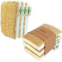 6 Eponges Lavables Réutilisables 100% Naturel De Qualité Supérieure, Eponge Vaisselle Souple Loofah, Eponge Végétale…