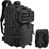 ProCase Military Tactical Backpack, 48L Large Rucksack 3 Day Outdoor Army Assault Molle Pack Go Bag Backpacks with Rain Cover