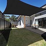Ankuka Voile d'ombrage Rectangulaire 3x4 mètres, Auvent Imperméable UV Protection pour Jardin Terrasse Extérieur Patio Piscin